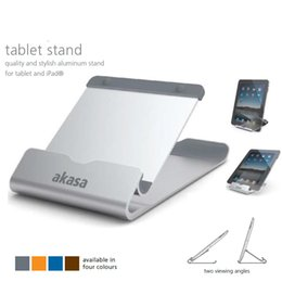 Wholesale Ipad Stand Portable Aluminum - Wholesale- Newest Design Universal Tablet Stands Portable Quality and Stylish Aluminum Holder for iPad Two Viewing Angles Bracket