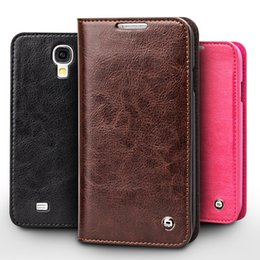 Wholesale Leather Cases For Galaxy S4 - Vintage leather flip case for Samsung Galaxy S4,card holder slim leather cover for galaxy S4