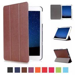 Wholesale galaxy s2 folio case - 2017 Slim Magnetic Folding Flip PU Case Cover for Samsung Galaxy Tab S2 SM-T810 T815 9.7 inch Skin Case