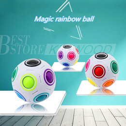 Wholesale Plastic Fun Balls - Rainbow Ball Magic Cube Speed Football Fun Creative Spherical Puzzles Kids Educational Learning Toy game for Children Adult Gifts