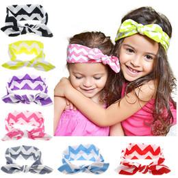 Wholesale Multicolor Headbands - Multicolor Girls ripple bow hair band Baby and big girls herring bone headband Childrens fashion Hair Accessories