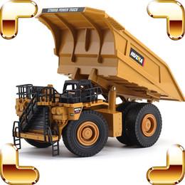 Fundido juguetes online-Regalo de Navidad 1/40 Modelo de Metal Minería Tronco Coche de Aleación de Vehículo Die-cast Modelos Estáticos Escala Juguetes Coches Camión Volquete Ingeniería Herramienta de Educación