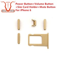 Wholesale Power Sim - New Power Button Volume Buttons Sim Card Holder Tray Slot Mute Button Side Button Sets Set Spare Parts For iPhone 6 4.7