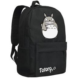 Wholesale totoro bag canvas - Wholesale- backpack2016women canvas japanese school bag Totoro backpack cute anime sac a dos leisure travel feminine bagpack youth