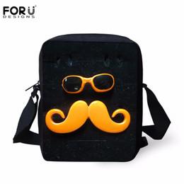 Wholesale Moustache Bags - Wholesale-FORUDESIGNS Fashion Moustache Printed Messenger Bags for Women Men Causal Crossbody Bag Mujer Mini Balck Satchel for Boys