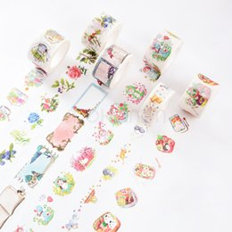 Wholesale Wholesale Kawaii Tape - Wholesale- 2016 10M Kawaii Cute Flower Fruit Masking Paper Tape Washi Tape Japanese Decorative Adhesive Tape Diy Diary Scrapbooking