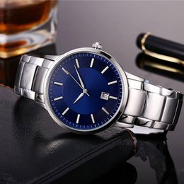 Wholesale Best Quality Wrist Watch - Hot AAA mens watches Lurury brand Designer High quality Automatic Date Full Stainless Steel band Quartz wrist watch For men male best gift