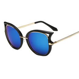 Wholesale Pc Flat Panel - Wholesale-Brand OUTEYE Women Sunglasses Metal Frame Reflective Coating Mirror Flat Panel Lens Brand Sun Glasses Oculos De Sol 2016 W1