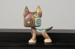 Wholesale Shop Tattoos - gift bags and ribbon Pet Shop Collection LPS Figure Toy Tattoo Great Dane dog #1439 Nice Gift Kids