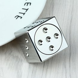 Wholesale Metal Cubes - Dice Hand Spinner Steel Metal Fidget Cube Spinner Autism & ADHD Anxiety Stress Relief Focus Handspinner EDC Toys for Adults Kids