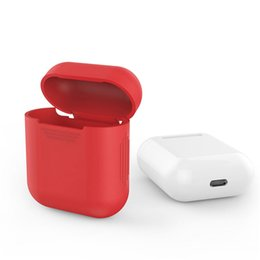 Wholesale Elegant Case For Iphone - 1 pcs For Apple Airpods Silicone Case Protective Cover Pouch Anti Lost Protector Elegant Sleeve Fundas Air Pods Earphone Case
