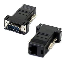 Canada VGA Extender Femelle / Mâle Vers LAN Adaptateur de connecteur Ethernet Cat5e Cat5e RJ45 100 pièces en stock expédition rapide Offre