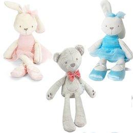 Wholesale Doll Gif - Wholesale- 42cm 7Style Baby Toys Rabbit Sleeping Comfort Doll Plush Toys Millie Boris Smooth Obedient Rabbit Sleep Calm Doll Birthday Gif