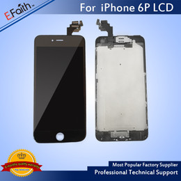 Wholesale Bezel Frame - Wholesale- Black LCD Display For iPhone 6 Plus 5.5 inch Touch Screen with Digitizer Bezel Frame+Home Button+Front Camera Full Assembly