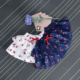 Wholesale Girls White Mini Skirt - Girl Skirts Mini Skirt Baby Girl Cherry Skirt Pleated Skirt Girl Sweet Clothing 2 Colors 5 p l