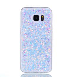 Samsung galaxy s6 edge phone case online-Moda Flash Slice Funda para teléfono para Samsung Galaxy S6 Edge Cover Acrílico Suave TPU Funda de silicona para teléfono móvil Para Samsung S6 Edge