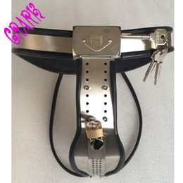 Wholesale Steel Female Chastity Belts - Stainless steel Y-type female Curved bionic chastity belt,fetish,sex bondage toys for woman,Wire alternative chain,softer,more comfortable