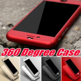 Wholesale Cover Body - 360 Degree Full Body Protection Hard PC Full Cover Body Cover Case For Iphone X 8 7 Plus 6S SE Samsung S8 Plus With Tempered Glass MOQ:10pc