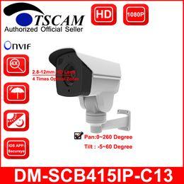 Wholesale Hd Ip Camera 12mm - TSCAM new DM-SCB415IP-C13 Outdoor CCTV Bullet IP Camera HD 1080P 2.0MP 4X Optical Zoom IR MINI PTZ Camera 2.8-12mm Lens P2P