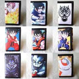 Wholesale Dragon Card Holder - Anime Dragon Ball, Fairy Tail, Death Note, Final Fantasy, Spider Man, Natsume Yuujinchou, Naruto Short Polyester Mini Wallet Purse