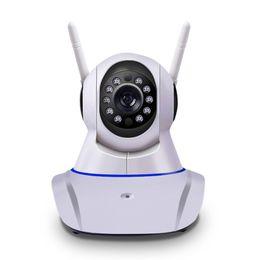 Canada MOQ: 1 PCS 2017 Nouvelle double antenne Caméra sans fil IP caméra WIFI Megapixel 720p HD intérieure sans fil numérique de sécurité CCTV IP Cam IR Offre