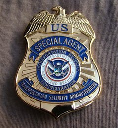 Wholesale Metal Badge TSA Meida Copper Badge US Department of Homeland Security Transportation Security Administration Special Agent Badge