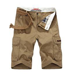 Wholesale Over Size Clothing - Wholesale- 2017 New Arrival Brand-clothing Clothing CLOTHES Over Size Cotton Summer Men Knee Length Shorts Solid Zipper Pocket Hot sales