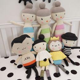 Wholesale Handmade Crochet Gifts - Wholesale-Height 47-35-39 cm Stuffed Toys,Baby Kids Dolls Handmade Knitted kids,Toys Crochet Toys for Birthday Christmas Gift