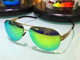2019 occhiali ultraleggeri occhiali da sole per uomo germany designer occhiali da sole per donna IC! Occhiali da sole con montatura oversize Memory Alloy pilot frame ultraleggero occhiali ultraleggeri economici