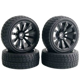 Wholesale Tyre Rc Cars - 4 x RC 601-8005 Offset:6mm Flat Racing Tires Tyre Wheel Rim Fit 1:10 On-Road Car