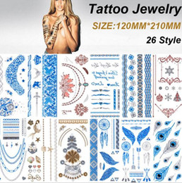 Wholesale Bling Sticker Lips - Brand New Metalic Tattoos Gold Temporary Flash Tattoos Products Henna Metal Bling Tatouage Body Paint Stickers