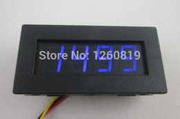 Wholesale Digital Rpm Gauge Meter - Wholesale-Blue LED Car Auto Motorcycle Vehicle RPM 4 Digital Motor Tachometer Speed Measure Meter Gauge
