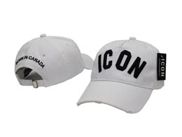 Wholesale Baseball Cap Hat Embroidery - 2017 New Styles Top Cap Baseball Adjustable Sunless Caps Snapback Black Hat Men Women ICON Embroidery Logo Hat Free Shipping