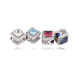 Wholesale Snowflakes Beads - Authentic 925 Silver Beads Dazzling Snowflake Charms Fits European Style Jewelry Bracelets