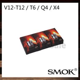 Wholesale Wholesale Coils - Smok TFV12 Coil Head V12-T14 V12-T12 V12-T6 V12-Q4 V12-X4 V12-T8 Sextuple Quadruple Coils For TFV12 Cloud Beast King Tank 100% Original