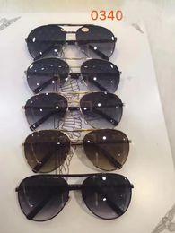 Wholesale Decorative Sunglasses - Mens ATTITUDE PILOTE Z0340U SUNGLASSES with Decorative pattern lenes Designer Luxury Fashion Sunglasses Eye Wear Brand New with Case