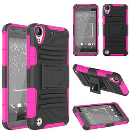 Wholesale M7 Wallet - Hybrid Robot Holster Combo Case with Stand Shockproof Customized Case Cover For HTC Ocean U11 Bolt One A9 M9 M8 M8 mini M7 M10