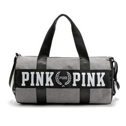 Wholesale Nylon Beach Bags Sale - 2017 Hot Sale Canvas secret Storage Bag organizer Large Pink Men Women Travel Bag Waterproof Victoria Casual Beach Exercise Luggage Bags