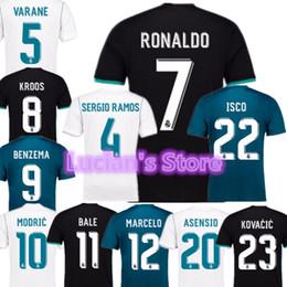 Wholesale Real Discount - 1718 TOP Thai Quality Real Madrid Toni Kroos Customized Soccer Jerseys Discount Cheap Football Jerseys BENZEMA RONALDO Football Shirts