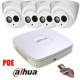 Wholesale Dome Outdoor Security System - Original english Dahua 4MP POE IP Camera DH-IPC-HDW4421C System Security Camera Outdoor 8CH 1080P NVR4104-P Kit H.264 Recorder
