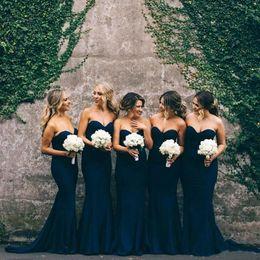 Wholesale Sweetheart Chiffon Bridesmaids Dresses - 2017 Hot Sale Cheap Sexy Chiffon Mermaid Bridesmaid Dress Sweetheart Off Shoulder For Wedding Party Long Maid Of Honor Guest Dresses BA4243