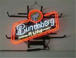 Wholesale Rum Signs - Fashion New Handcraft Bundaberd Rum Real Glass Tubes Beer Bar Pub Display neon sign 19x15!!!