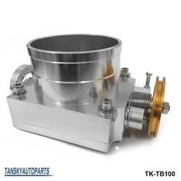 Wholesale Aluminum Engines - High-performance Universal 100MM CNC Billet Aluminum High Flow Air Intake Manifold Engine Throttle Body Silver TK-TB100