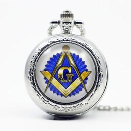 Wholesale Wholesale Masonic Watches - Wholesale- Fashion Masonic Free-Mason Freemasonry Pocket Watch Retro Beautiful Pendant Jewelry Pocket Watch Necklace Man Women's Gift