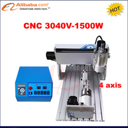 Wholesale Cnc Router Machine Water Cooling - Wholesale- CNC Router 3040 1500w Milling Machine with 4 axis 1.5kw water cooled CNC carving machine for metal aluminium woodworking