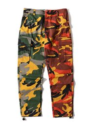 Wholesale Rubber Pants For Men - And the wind high street camouflage loose Wei pants rubber pants color color color all-match casual pants trendsetter for men and women