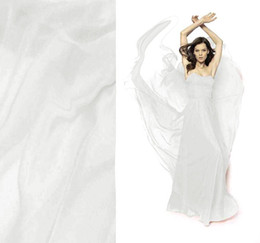 Wholesale Pure Silk Fabric Material - Top quality 100% pure silk chiffon fabric material off white 6momme 6mm by the meter 1 yard 3 inches)yppc 140cm width for dress