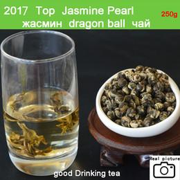 Wholesale Jasmine Dragon Green Tea - 2017very good china tea 250g Blooming 100% JASMINE DRAGON PEARLS TEA FREE SHIPPPING Green Tea
