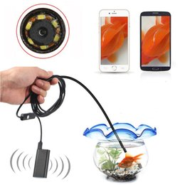Wholesale Endoscope Camera Wireless - 5.5mm Wifi Wireless Endoscope 648*480 with 1 1.5 2 3.5 5 10m Cable Borescope Waterproof Inspection Camera for IOS Android Windows PC