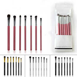 Wholesale Manufacturer Black Hair - wholesale 7PCS SET 4 COLORS personalized professional mermaid HAPPY MAKEUP eyeshadow makeup brushes with Horse hair manufacturers China